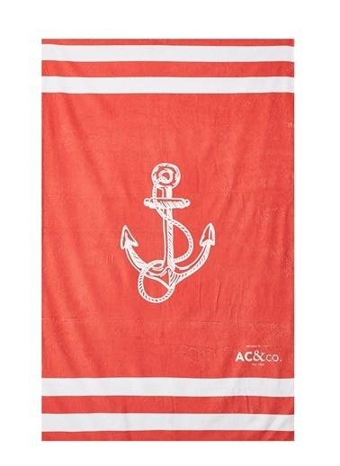 AC&Co / Altınyıldız Classics Kırmızı Plaj Havlusu 4A5419200003 Kırmızı